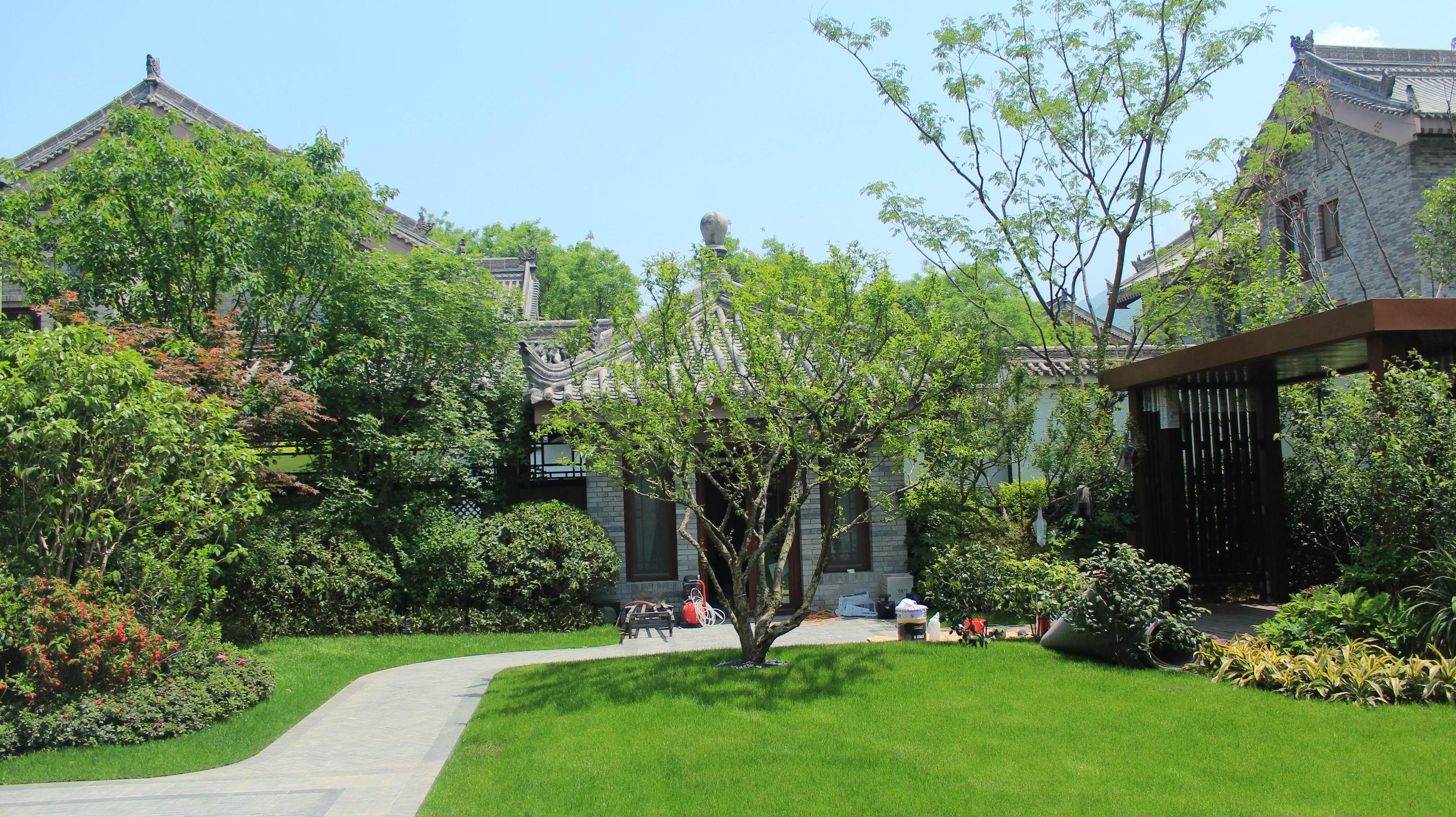 西安院子别墅景观